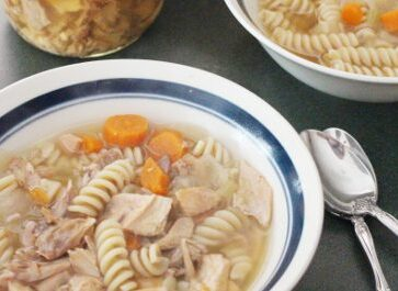 Chicken Bone Broth Soup – For Canning or Eating Fresh