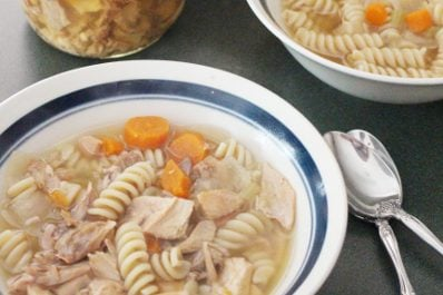Bone Broth Chicken Soup – For Canning or Eating Fresh