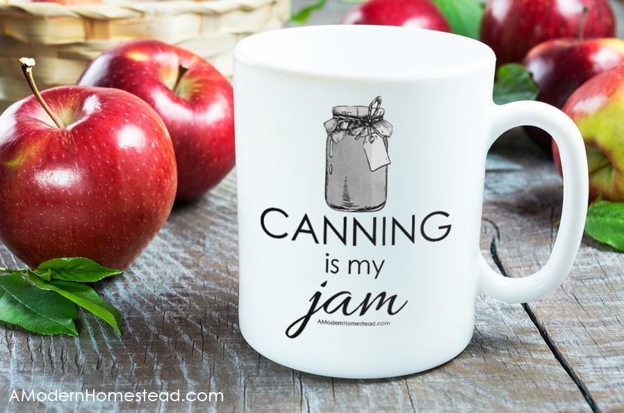 Start your day with a little canning pride with this fun coffee mug! Canning is my Jam coffee mug!