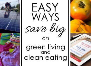 """Living a """"green"""" life can get expensive. But there are ways to save money while living well! Check out these fun tips."""