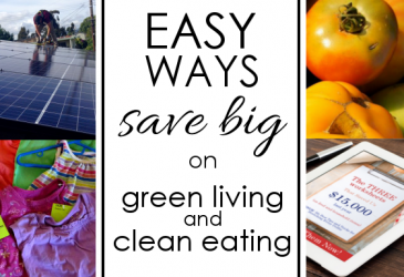 "Living a ""green"" life can get expensive. But there are ways to save money while living well! Check out these fun tips."