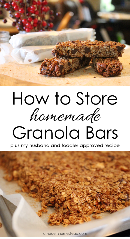 How to Make and Store Homemade Granola Bars