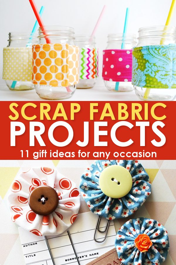Scrap fabric projects yo-yos and cup cozies craft diy crafting blogger