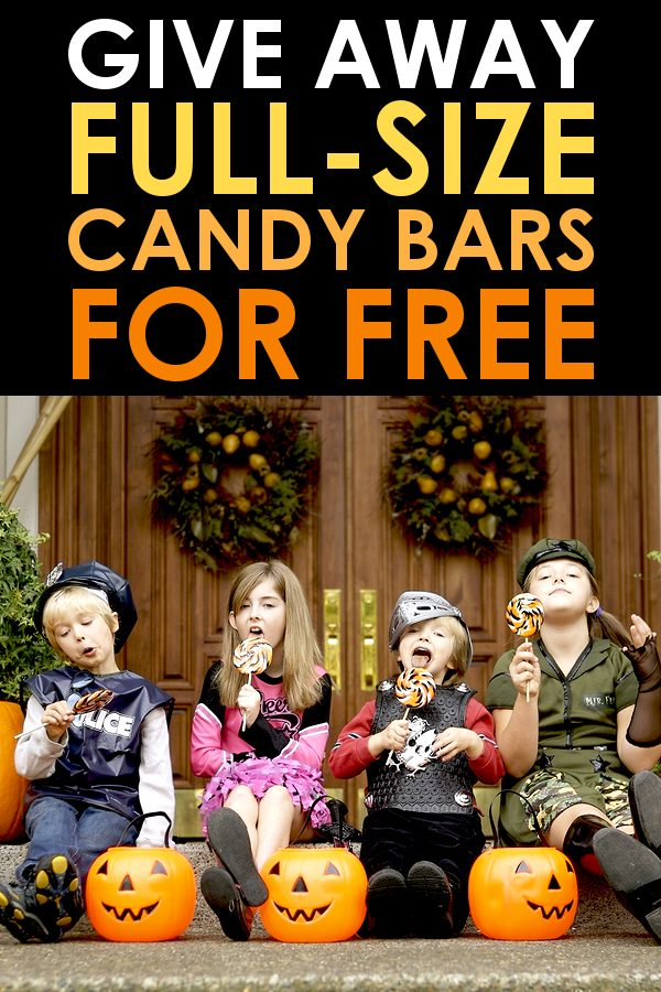 cheap halloween candy - full size chocolate bar coupon