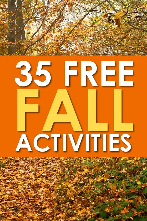 Free Fall Activities List