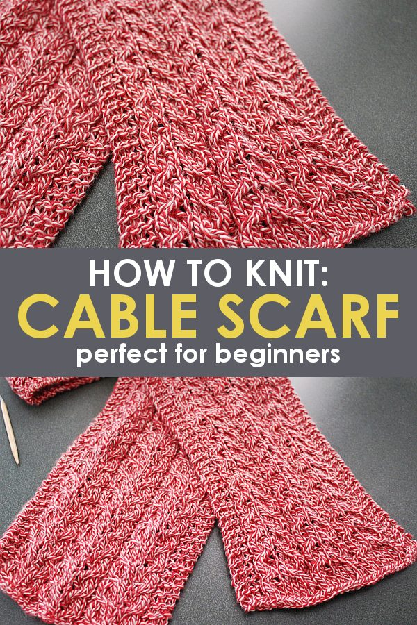 How To Knit A Simple Cable Knit Scarf Free Pattern