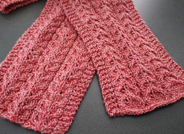 Simple Cable Knit Scarf