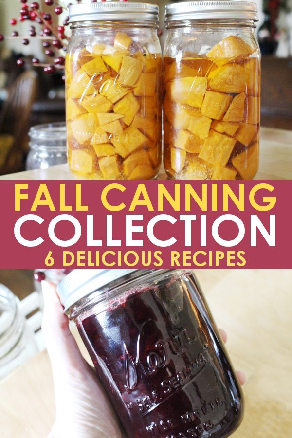 Fall vegetable harvest canning