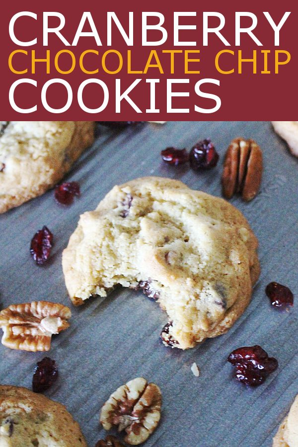 Cranberry cookies for fall cookie recipes. Cranberry chocolate chip cookies.