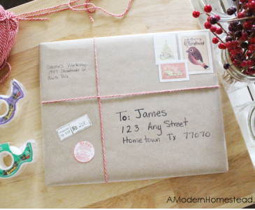 Santa's Workshop Gift Wrapping Tutorial + Free Christmas Stamps!