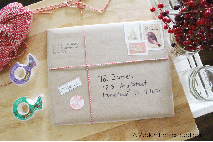 Christmas Magic starts way before Christmas Morning! Find out how we make each package magical with this easy and fun gift wrapping tutorial! Santa's workshop gift wrapping make the magic of Christmas even more real! Plus, get free Christmas stamps too!