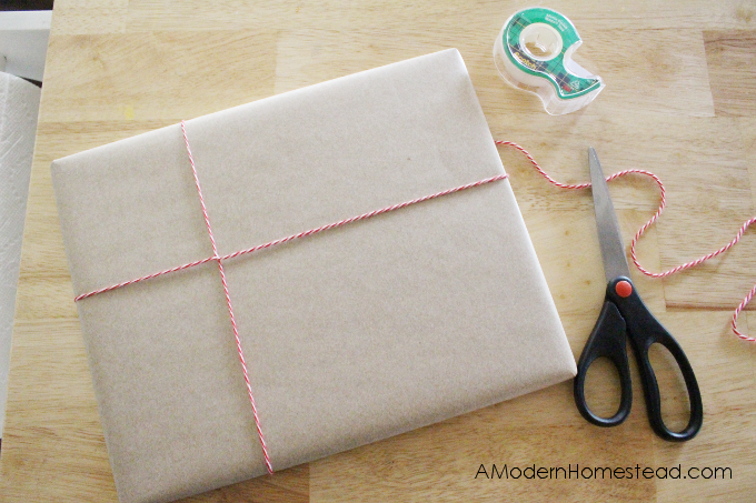 Wrapping twine on gift wrapping idea for christmas presents