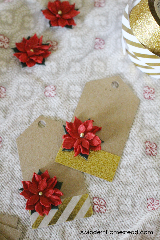 Holes punched for string on easy gift tags