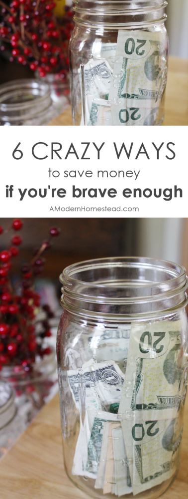 Saving money is my favorite game, but there are somethings I'm not quite ready to do just to save money. Here are 6 crazy ways to save money, if you're brave enough!