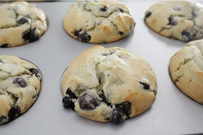 These light and fluffy einkorn blueberry muffins will help you create the perfect start to your day. They take just a few minutes to whip up and freeze well so that you can enjoy them any time!