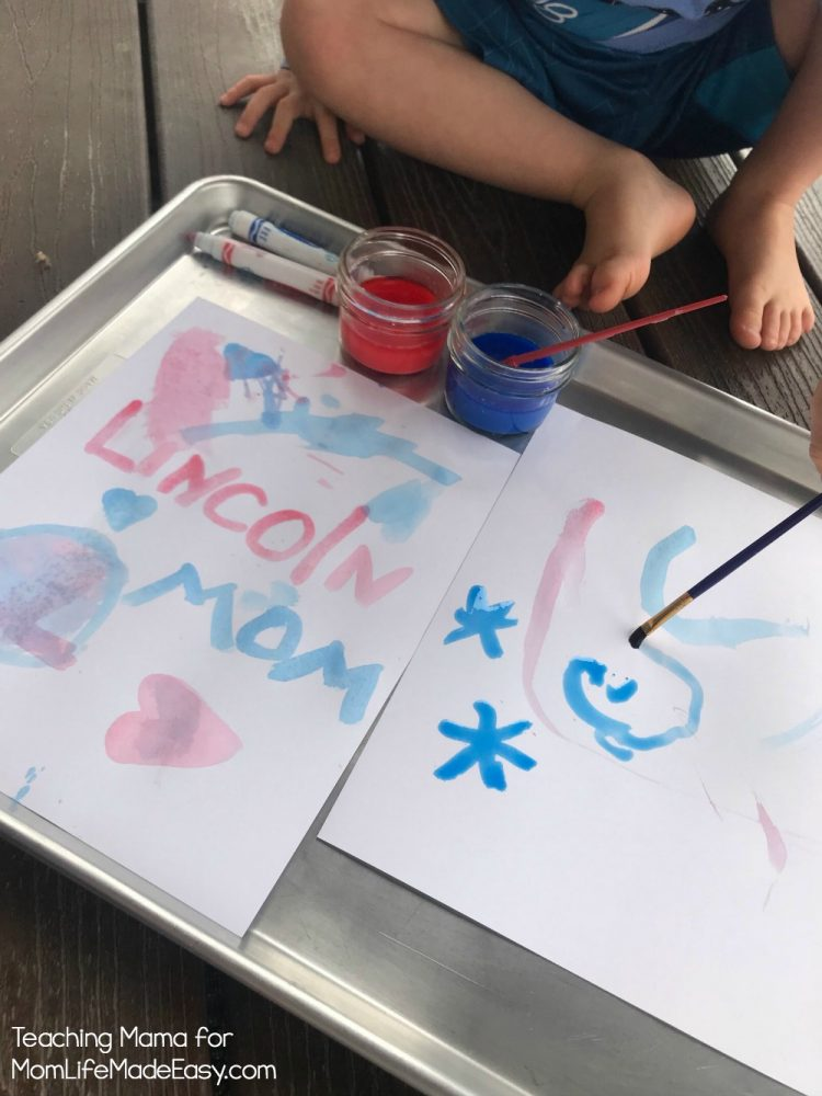 kids using homemade paints
