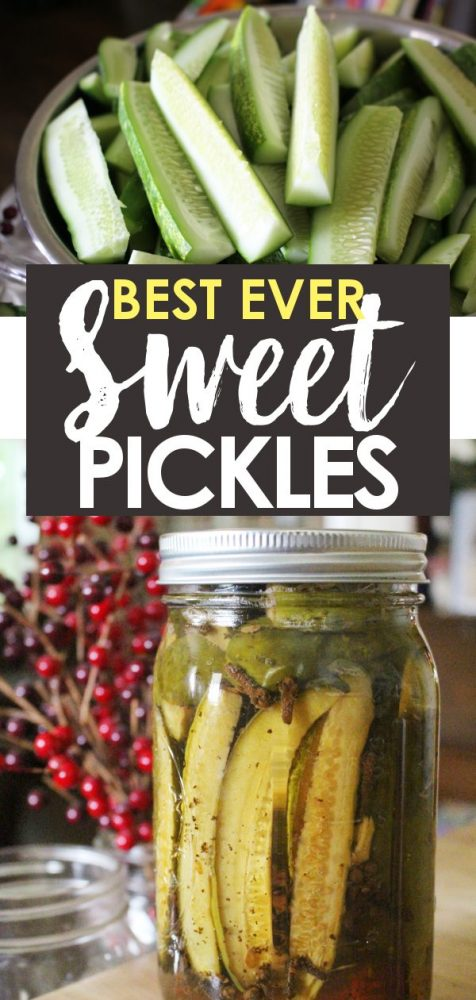 Canning Sweet Pickle Recipe Promo