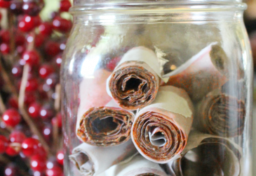 strawberry zucchini fruit leather in mason jar