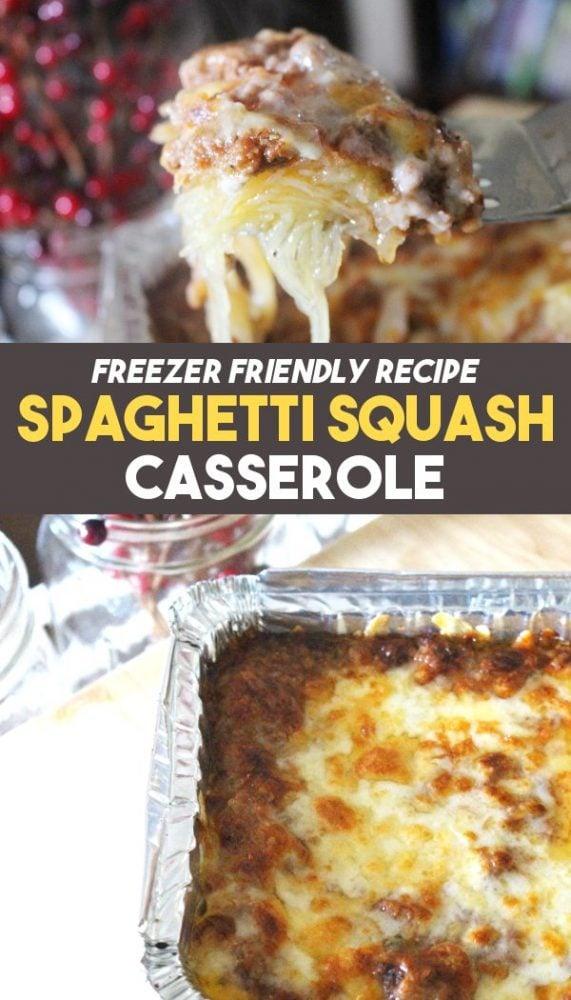 how to freeze spaghetti squash casserole