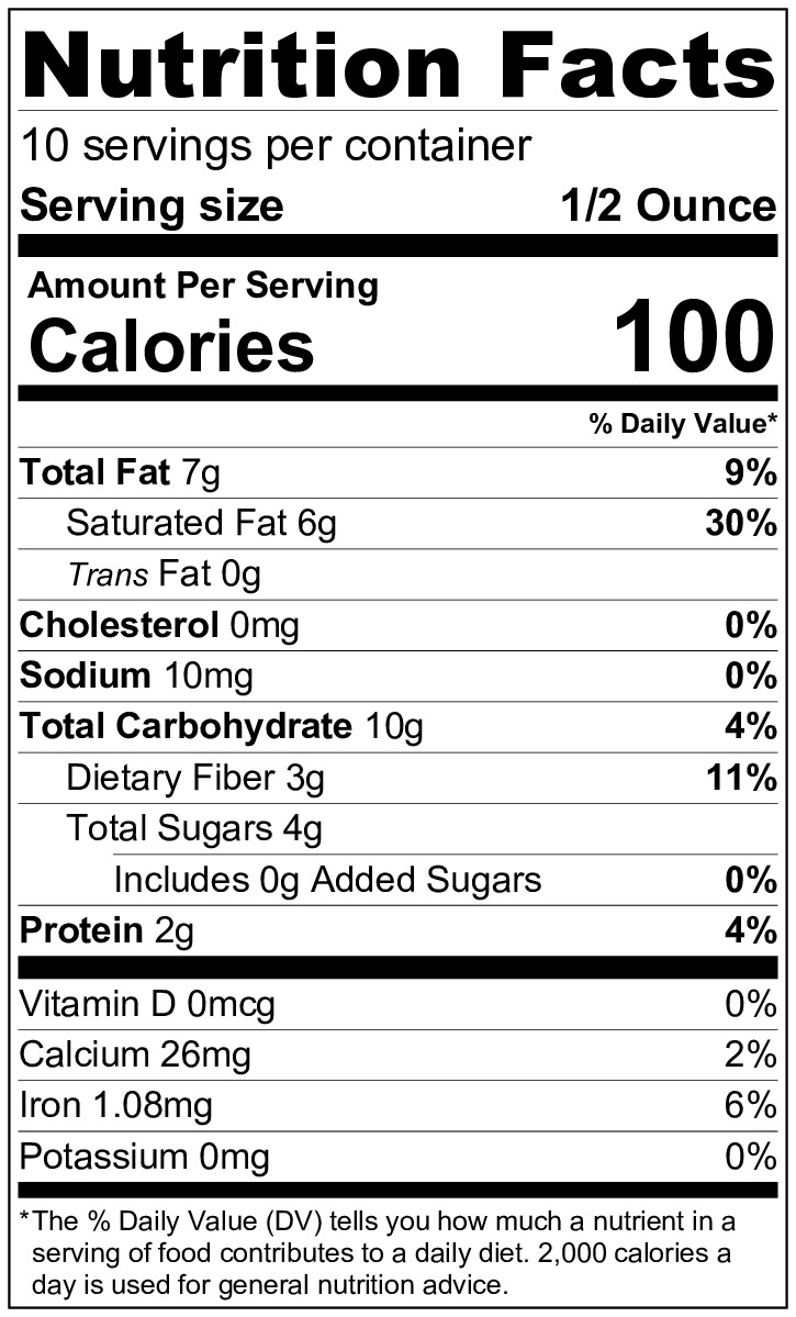 Honey chocolate nutritional information