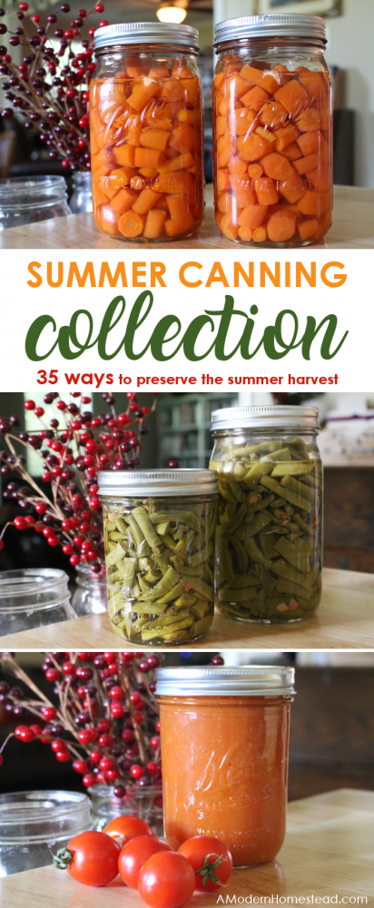 Summer canning is a great way to preserve the bounty of a summer garden or to take advantage of in season summer produce sales! Get the details on preserve summer produce below!