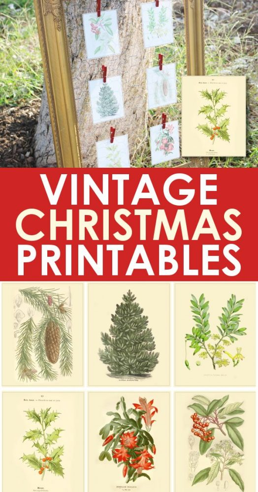 Vintage christmas printable images