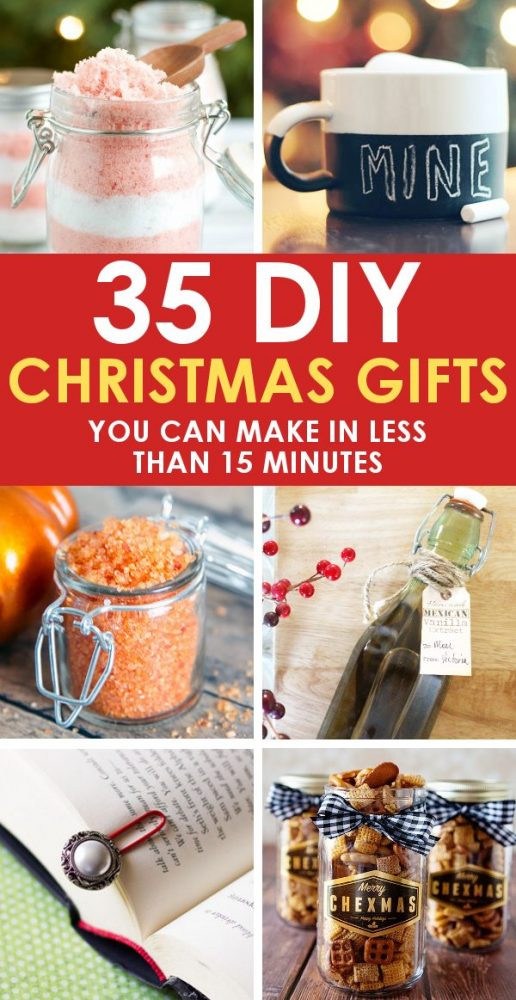 35 Easy Diy Christmas Gifts In 15 Minutes Or Less