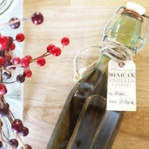 Nothing adds the depth of flavor to sweet dish quite like homemade Mexican vanilla extract! It can be hard to find without corn syrup added, but fortunately making your own extract is super easy!