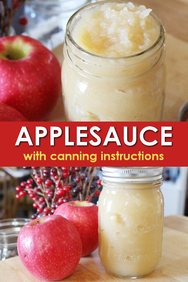 applesauce recipe for canning applesauce