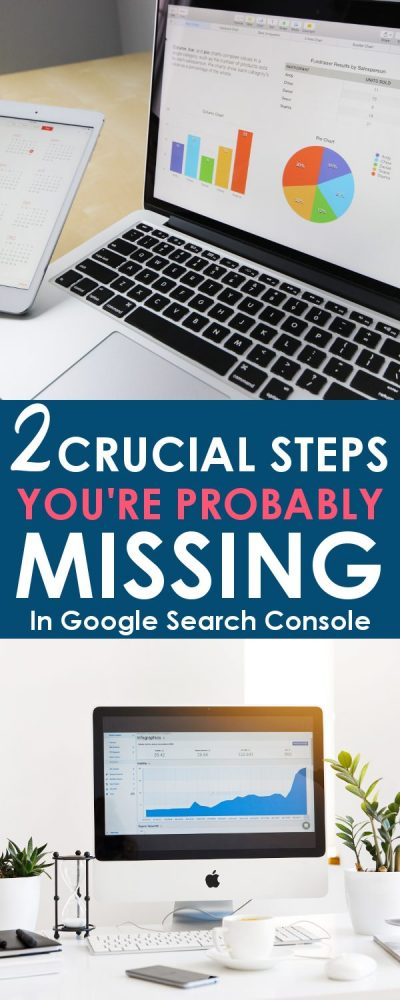 Make sure you have all the steps covered for setting up the Google search console for you site. There are 2 crucial steps you are probably missing!