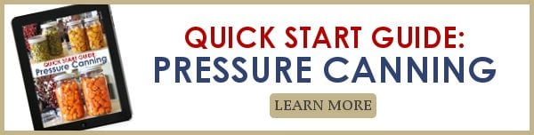 quick start guide to pressure canning