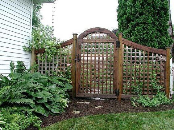 Tall Raw Wood Garden Gate