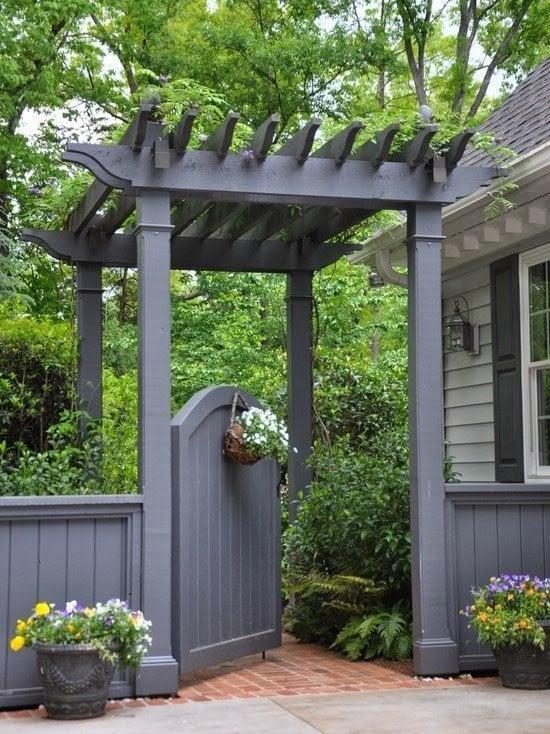 Chic Trellised Garden Gate