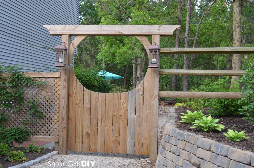 If You Want To Re Create Gates Numbers 2 Or 5 Then Can Use These Plans For An Diy Picket Garden Gate From Joy Journey