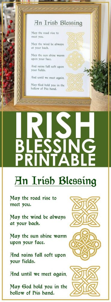 photograph about Printable Irish Blessing known as Irish Blessing Printable - Totally free and Very simple Decor Strategy