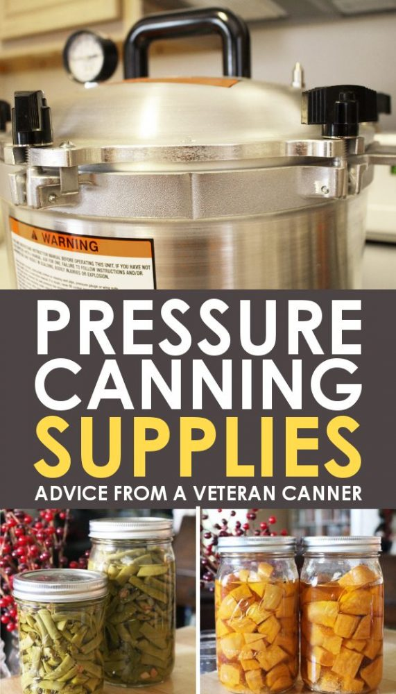 Pressure canning supply recommendations