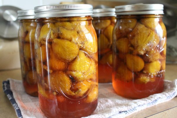 Canning fresh figs