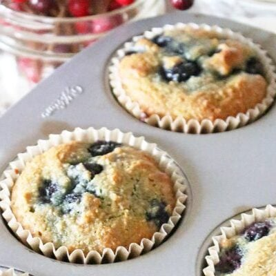 almond flour healthy blueberry muffins
