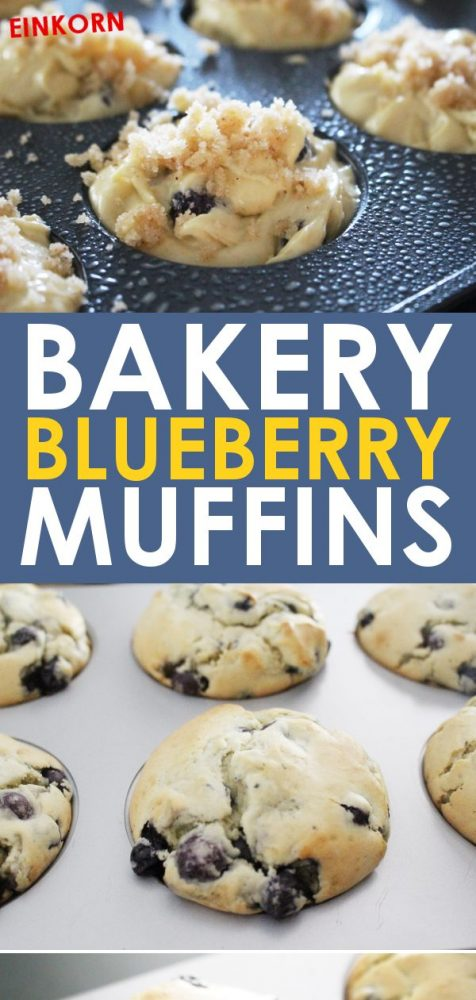easy einkorn blueberry muffins