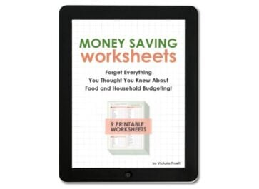 Money Saving Worksheets – Eat the Food You Love for LESS!