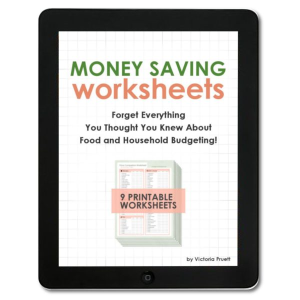 money saving worksheets - food budgeting system