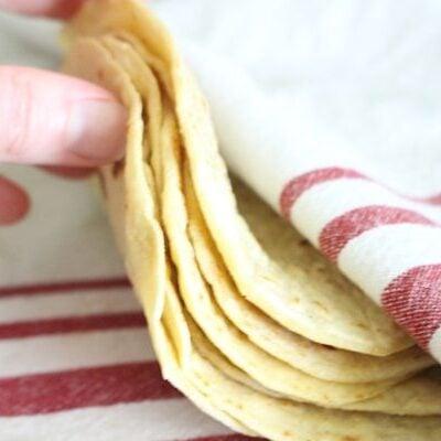soft homemade einkorn tortillas