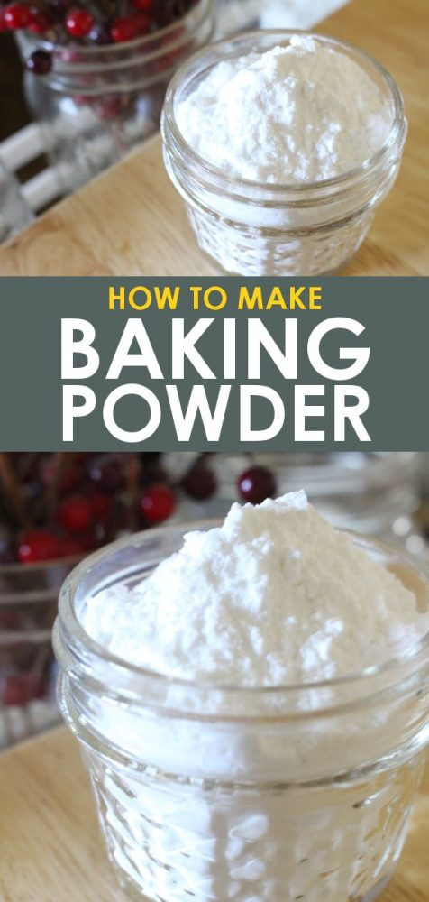 How to Make All-Natural, Organic Baking Powder - Without