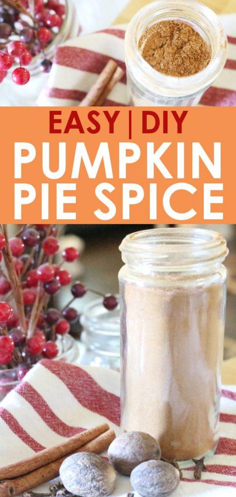DIY easy pumpkin pie spice recipe from scratch