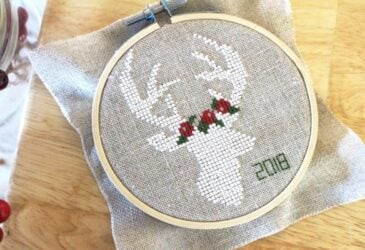 Christmas Deer Cross Stitch Pattern