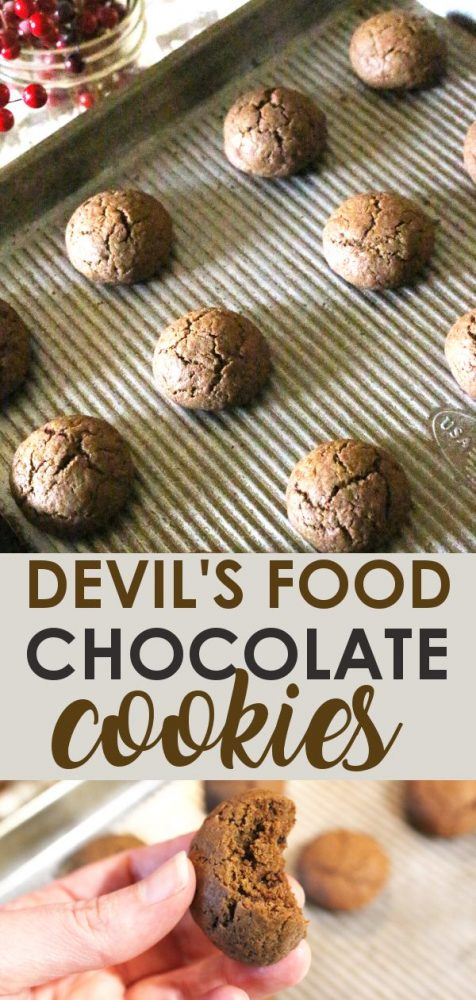 Devils Food Chocolate Cookies Use Einkorn Or Any Wheat