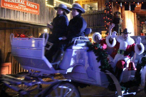 Santa's Arrival at Santa's Wonderland Texas Christmas Experience