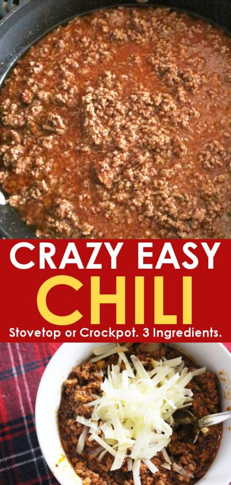 Homemade easy chili recipe - crockpot option