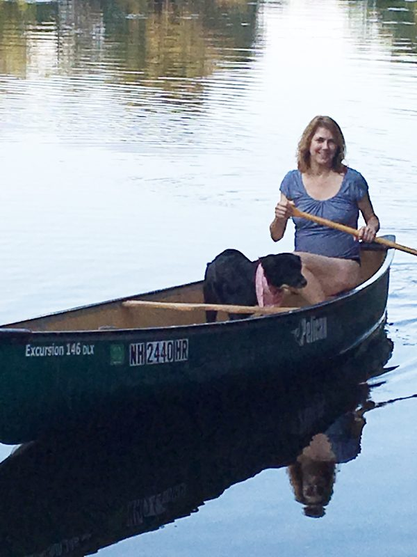 Wendie testing her canoe skills - Off the grid travel