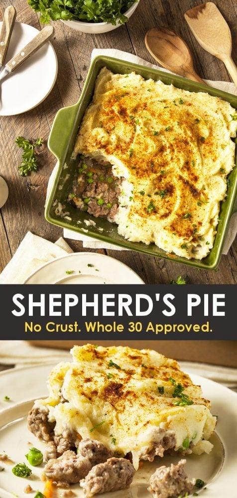 Whole 30 gluten free easy shepherd's pie recipe